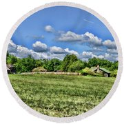 Rural Virginia Round Beach Towel by Paul Ward