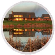 Rush Creek Golf Course Reflections Round Beach Towel