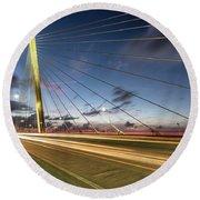 Rush Hour - Ravenel Bridge Charleston Sc Round Beach Towel