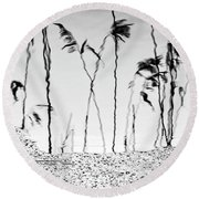 Rush Shadows Round Beach Towel