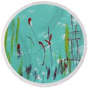 Rushes And Reeds Round Beach Towel