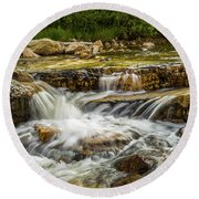Rushing Waters - Upper Provo River Round Beach Towel