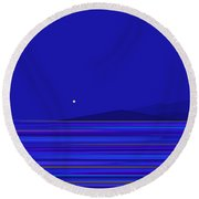 Round Beach Towel featuring the digital art Rushing Waters by Val Arie