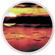 Russet Sunset Round Beach Towel