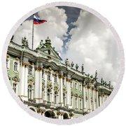 Russian Winter Palace Round Beach Towel