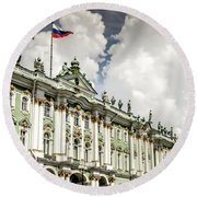 Russian Winter Palace Round Beach Towel