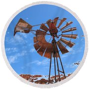 Rust Age Round Beach Towel