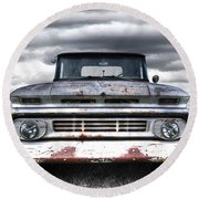 Rust And Proud - 62 Chevy Fleetside Round Beach Towel