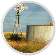 Rust Find Its Place Round Beach Towel