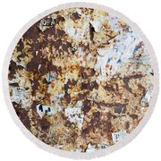 Rust Paper Texture Round Beach Towel by John Williams