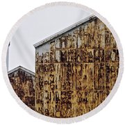 Rust Production Round Beach Towel by Tim Good