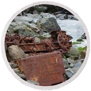 Rusted In Place Round Beach Towel by Kandy Hurley