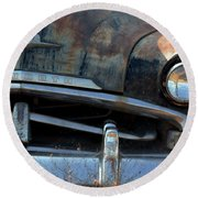 Rusted Out Plymouth Round Beach Towel
