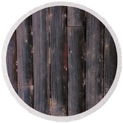 Rustic Barnwood Shower Curtain Round Beach Towel by Michele Carter