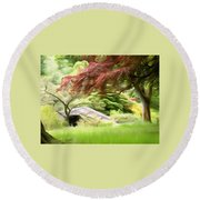 Rustic Bridge Round Beach Towel