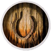 Rustic Country Charm Round Beach Towel