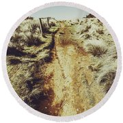 Rustic Country Trails Round Beach Towel