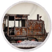 Rustic Engine 3 Round Beach Towel by Judy Wolinsky