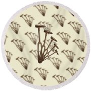 Round Beach Towel featuring the photograph Rustic Hammer Pattern by YoPedro
