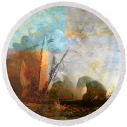 Rustic I Turner Round Beach Towel by David Bridburg