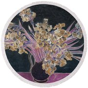 Rustic II Van Gogh Round Beach Towel by David Bridburg