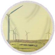 Rustic Renewables Round Beach Towel