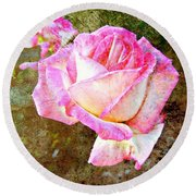 Rustic Rose Round Beach Towel by Leanne Seymour