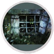 Rustic Wildflower Homestead Round Beach Towel by Michele Carter