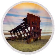 Rusting Shipwreck Round Beach Towel