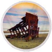 Rusting Shipwreck Round Beach Towel