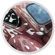 Rusty Bug 1 Round Beach Towel
