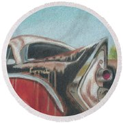 Rusty Fin Round Beach Towel