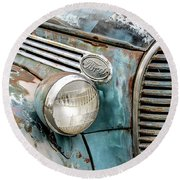 Rusty Ford 85 Truck Round Beach Towel