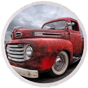Rusty Jewel - 1948 Ford Round Beach Towel