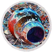Rusty Metal Stuff II Round Beach Towel