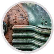 Round Beach Towel featuring the photograph Rusty Old Beauty by Joel Witmeyer
