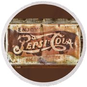 Rusty Pepsi Cola Round Beach Towel by Steven Parker