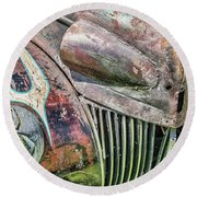 Rusty Road Warrior Round Beach Towel