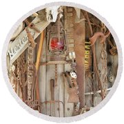 Rusty Treasures Photograph Round Beach Towel