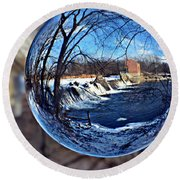 Rutland Dam Two Round Beach Towel