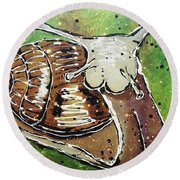 Rv Ing Round Beach Towel by Phyllis Howard