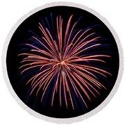 Rvr Fireworks 48 Round Beach Towel by Mark Dodd