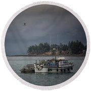 Ryan D Round Beach Towel by Randy Hall