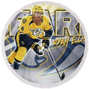 Ryan Ellis Round Beach Towel