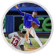 Ryan Goins Round Beach Towel