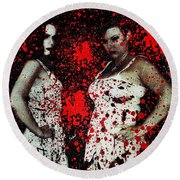 Ryli And Corinne 2 Round Beach Towel