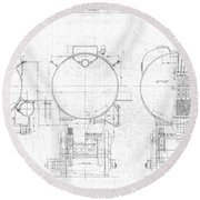 S-1a Cross Sections Round Beach Towel