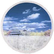 S C Upstate Barn Faux Color Round Beach Towel