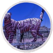 Saber-tooth Cat Round Beach Towel