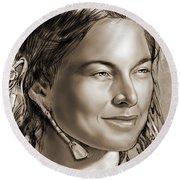Sacagawea 2 Round Beach Towel